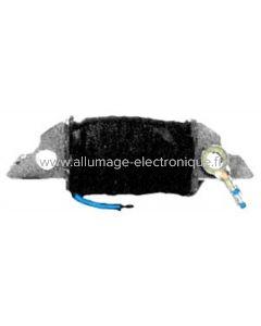 Bobine de charge batterie et éclairage pour allumage Motoplat à rotation horaire et rotor externeplastoferrite.