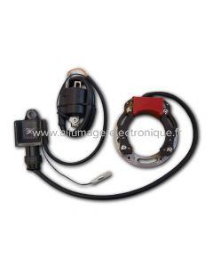 Kit Stator,CDI,Bobine,diamètre intérieur stator 63mm,  platine 94mm pour Allumage Motoplat à rotor interne.