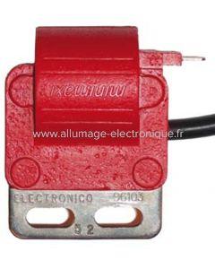 Bobine haute tension pour allumage électronique Motoplat avec CDI séparé rouge ou noir. M11